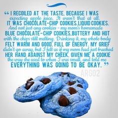 Blue chocolate chip cookies
