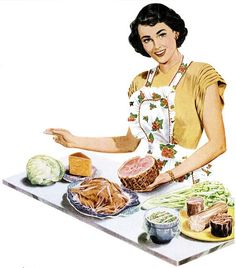 Ensuring her leftovers stay delicious fresh with the help of Pliofilm. #vintage #1940s #ad #food #plastic_wrap #homemaker #housewife