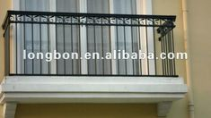 modern outdoor wrought iron balcony railing, View used wrought iron railing, LONGBON Product Details from Foshan Longbang Metal Products Co. on modern wrought iron railings Balcony Grill Design, Balcony Railing Design, Window Grill Design, Balcony Doors, Iron Balcony, Wrought Iron Beds, Wrought Iron Fences, Rod Iron Fences, Balustrade Balcon