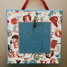 Colored Stretched Canvas 8X8 blue/red/multi-colored/alphabet/animals