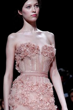 Elie Saab, because I kinda want to wear a pink wedding dress.
