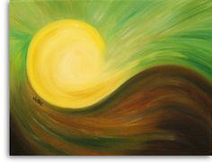 sun paintings | Mountain Sun painting