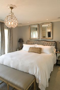 Warm Grey Wall Colors and Luxury White Beds in Traditional Bedroom Design Ideas Warm Contemporary Bedroom Decorating Ideas