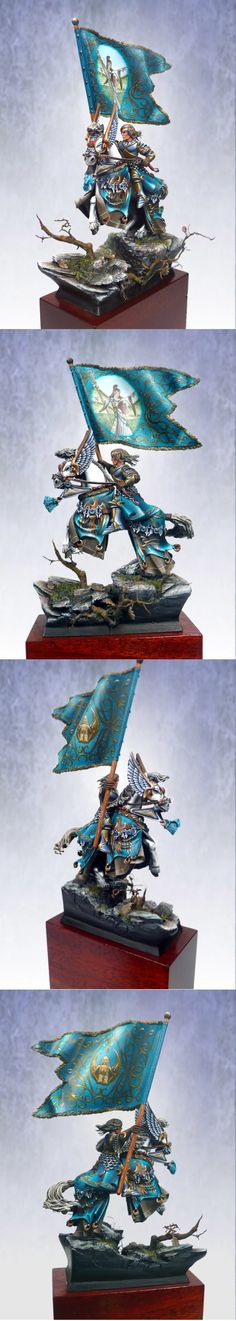 High elf standart bearer. Amazing conversion and painting!