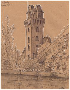 Giulia Damiani- sketchbook  urban sketching- Padova giuliadamianiart.tumblr.com