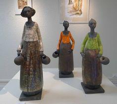 Agnès Bleicher (France) - figurines en raku
