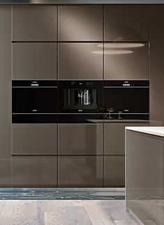 Smeg Dolce Stil Novo Composition of Oven, Coffe Machines and Warming Drawer
