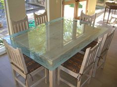 Mountains Border Gl Dining Table Tables Custom Etching