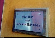 members and non members only