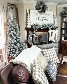 Living room with a snowy glow! Amy Kinser