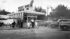 Cozy Dog Drive-In on MacArthur 1950's. Springfield, Illinois