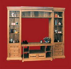 Grand bookcase with alcove Tech TV/Hi-Fi/Video cabinet mobila lemn masiv