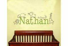 Personalized Jungle Animals Wall Decal $48.00 on www.rosenberryrooms.com