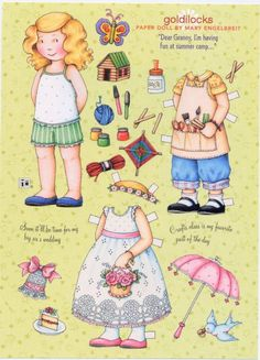 mary engelbreit paper dolls | Mary Engelbreit Paper Doll, Goldilocks Goes To Summer Camp, Collage ...