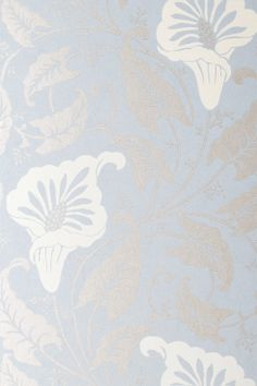 patterns.quenalbertini: Anna French Wallpaper & Fabric Light Silver on Pale Blue