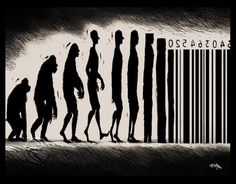 evolution consumism barcode