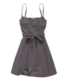 Dark Gray Tie-Waist A-Line Dress #zulily #ad *love