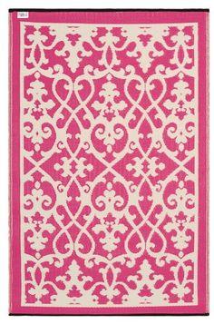 FabHabitat 654367294673 Venice Teppich, 180 x 270 cm, creme / pink