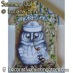 Summer Owl ePattern - Luciana Brini - PDF DOWNLOAD