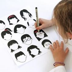 Blank Faces Drawing Page Printable. A great idea to keep kids occupied with a fun little project.