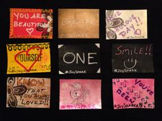 Here are some of the #JoySpark cards we made at our 1st #JoySpark party! Spread the joy of love, encouragement and positivity!  more details at: http://www.facebook.com/joysparkers