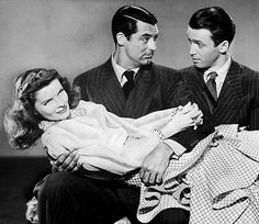 Cary Grant, James Stewart, and Katharine Hepburn in the 1940 film The Philadelphia Story Golden Age Of Hollywood, Hollywood Stars, Classic Hollywood, Hollywood Glamour, Old Hollywood, Katharine Hepburn, Cary Grant, Classic Actresses, Classic Movies