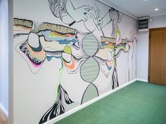 Graphic Line   Wall Mural Interior Design @ Body Engineering