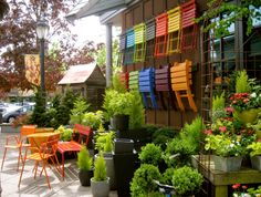 Colorful Chairs. Photo by Bonney Lassie: A Visit to Ravenna Gardens