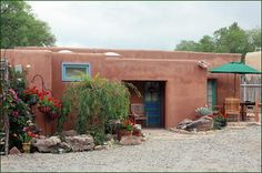 The Paloma casita offers a king size bed and a queen size sleeper sofa. Furnished in Old Mexico style, it features brick floors, a Russian sumac rug and original paintings by well known local artists....