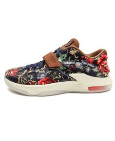 size 40 96716 2f0bc Nike KD 7 EXT QS Floral VII KEVIN DURANT 726438-400 LIMITED PREMIUM BLUE  BROWN  Nike  Athletic