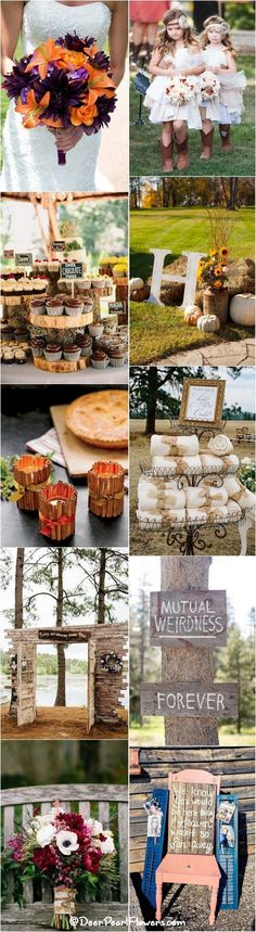 Rustic and fun fall wedding ideas / http://www.deerpearlflowers.com/autumn-fall-wedding-ideas/