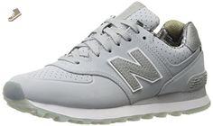 New Balance Women's WL574 Luxe Rep Sneaker, Silver Mink/Silver Mink, 7.5 B US - New balance sneakers for women (*Amazon Partner-Link)