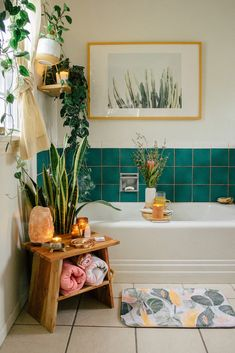 boho Bathroom Decor Youd Never Guess This Gorgeous Bathrooms Covered in Peel and Stick Tile Decor, Gorgeous Bathroom, Home Decor Inspiration, Stick On Tiles, Home Decor, Apartment Decor, Home Deco, Bathroom Decor, Boho Bathroom