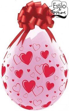 Balão Embalagem Corações Hearts A Round para balão presente Qualatex