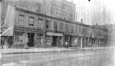 Fourth Street and Morgan Street, southwest corner. H.A. Knoll Tobacconist and Western Leather Company. 12 June 1894. Missouri History Museum