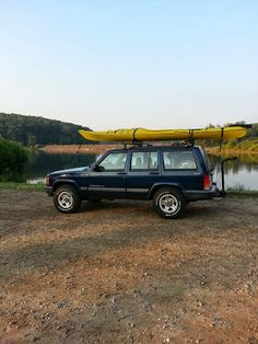 I've been putting in so many hours and weekends at work that I haven't had any time to post the fun in between. I did some kayaking one week. Jeep Xj Mods, Tiny Boat, Jeep Cherokee Xj, Vw Beetles, Jeeps, Kayaking, 4x4, Journey, Trucks