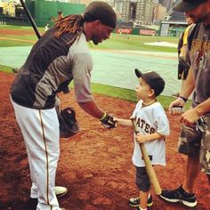 """The look on this kids face reminds me to never take this game for granted. I Live For This"" -Andre McCutchen"
