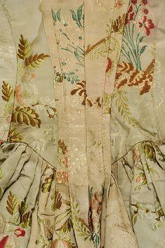 Wedding Dress Date: ca. 1760 Culture: British or French Medium: Silk Accession Number: 40.136.1a, b