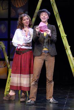 Miriam Silverman (Celia) and Amanda Quaid (Rosalind), As You Like It, directed by Derek Goldman, Folger Theatre, 2007. Stan Barouh. #Shakespeare