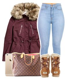 """2·26·16"" by trillxassxbitch ❤ liked on Polyvore featuring H&M, Louis Vuitton and UGG Australia"