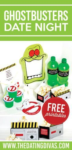 Fun Ideas For A Ghostbusters Party OR Date Night Free Printables Included From The