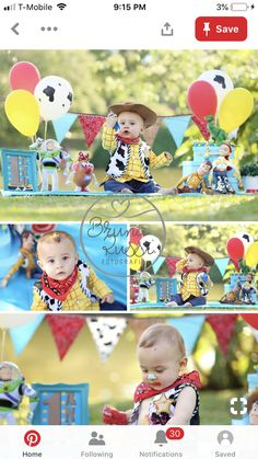Boys 1st Birthday Cake, 1st Birthday Photoshoot, First Birthday Party Themes, Toy Story Birthday, Birthday Ideas, Toy Story Halloween, Baby First Halloween, 3rd Birthday Pictures