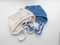 Видео мастер-класс: вяжем шапочку с ушками для новорожденного малыша - Ярмарка Мастеров - ручная работа, handmade