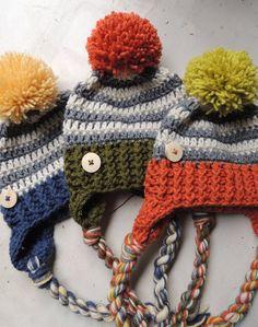 4fa1647c Crochet Hats, Luv Beanies, Boy Hats, Stocking Hats, Boy Stocking hats, Boy Ski  Hat, Winter hats for boys, Hat with Pom Pom, Elf Hats