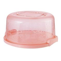 Portable Round Cake Carrier - Pink