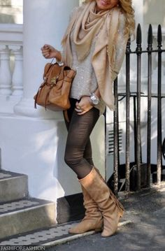 40 Stylish Fall Outfits For Women Women's Fall and Winter fashion 2014.