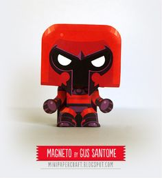 Blog Paper Toy papertoy Magneto pic Mini Magneto papertoy