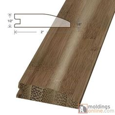 """Moldings Online 0.47"""" x 2"""" x 72"""" Reducer"""
