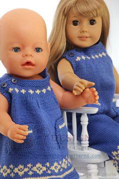strikkeoppskrifter dukkeklær