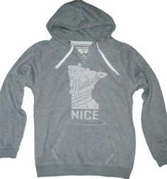 Minnesota Nice Women's Hoodie - Black & Gray (S-XL) on Etsy, $40.00